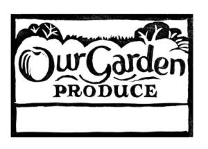 our garden label