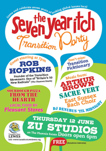 Poster for Transition Town Lewes 7th birthday party