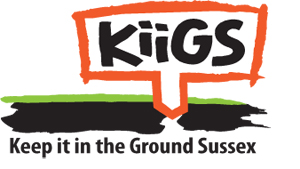 Keep it in the Ground Sussex logo design