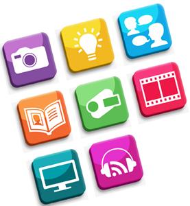 icons for Digital Life Story handbook