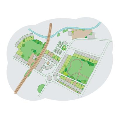 Diagram of green corridors 'before'