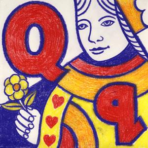 Q for Queen illustration