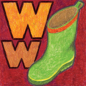 W for Wellies illustration