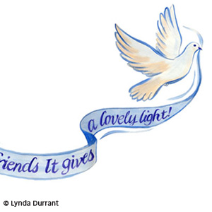 Dove handlettered banner