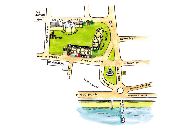 Moving card location map, Brighton
