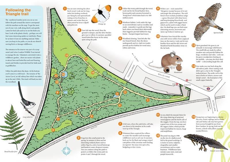 Gunnersbury Triangle leaflet, map side