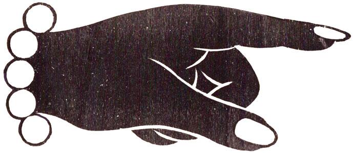 woodcut hand illustration