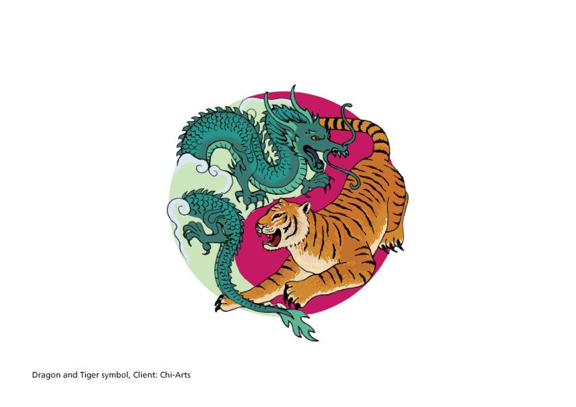 Dragon and Tiger illustration