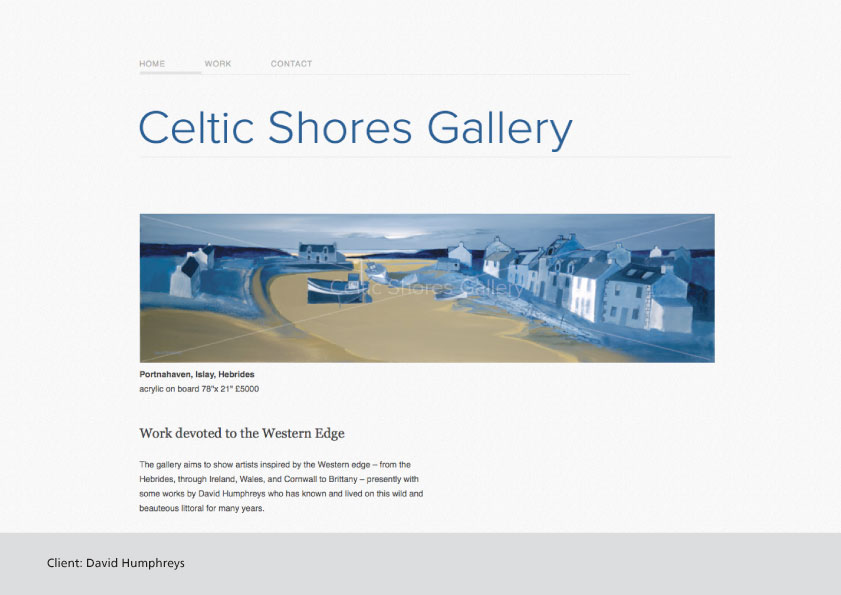 Celtic Shores Gallery website