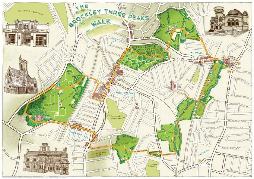 The Brockley Three Peaks Map