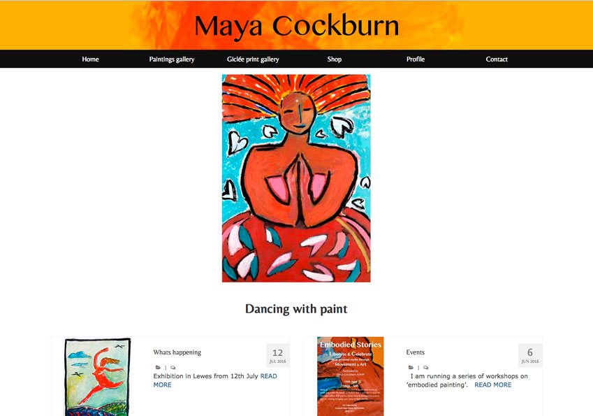 Maya Cockburn website