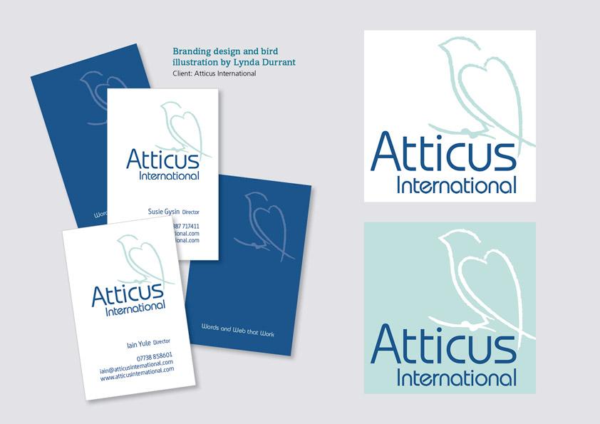 Atticus cards on grey