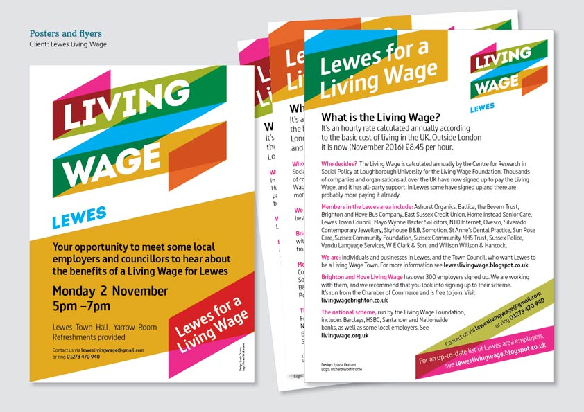 Living Wage flyers