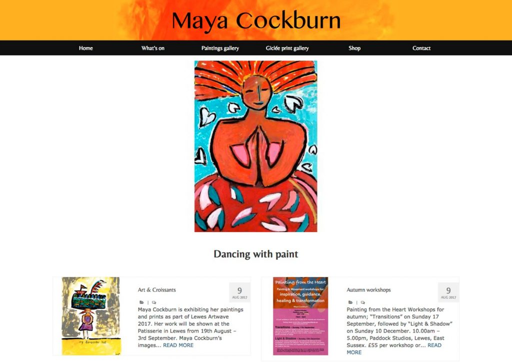 Maya Cockburn dancing with paint