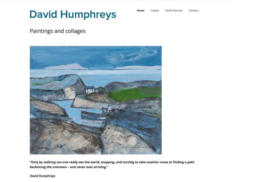 David Humphreys website home page