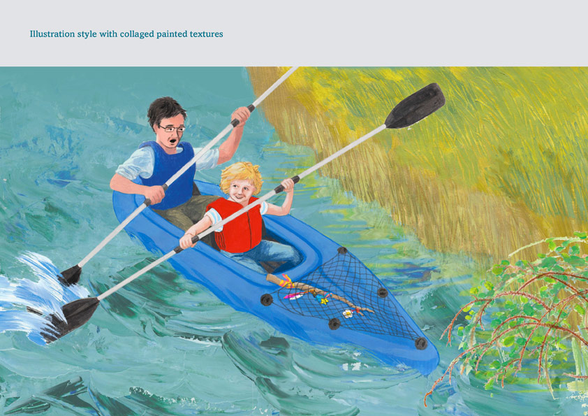 Canoeing illustration