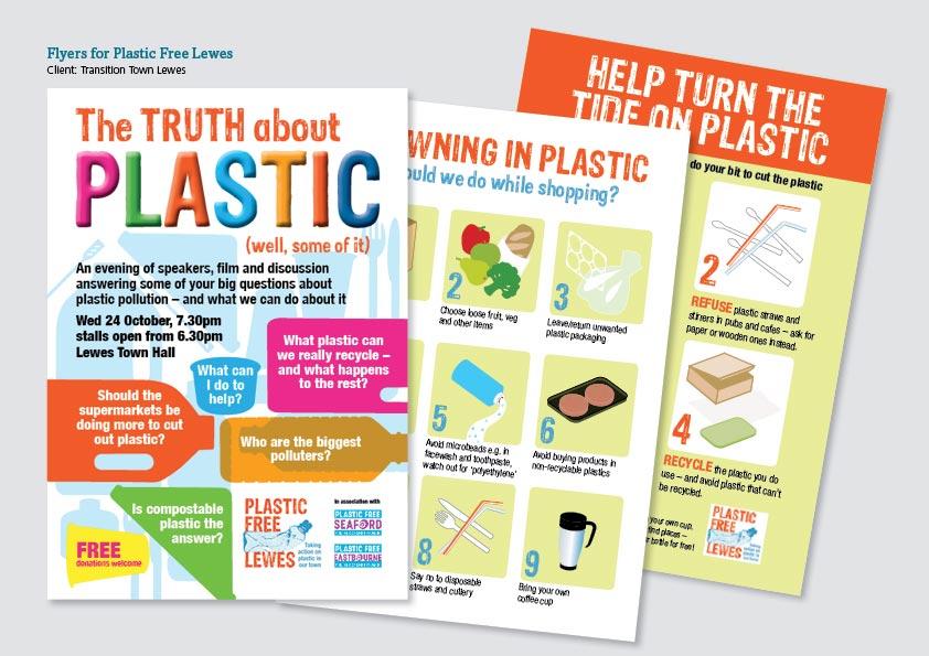 Plastic Free Lewes flyers