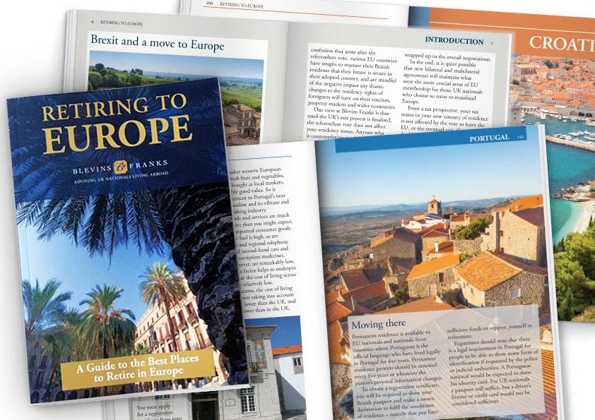 Retiring to Europe book